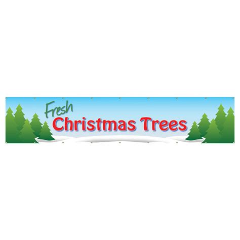 fresh christmas tree pvc banners the christmas cabin