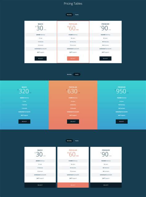 tutorial on html tables 30 best html css pricing table templates tutorials