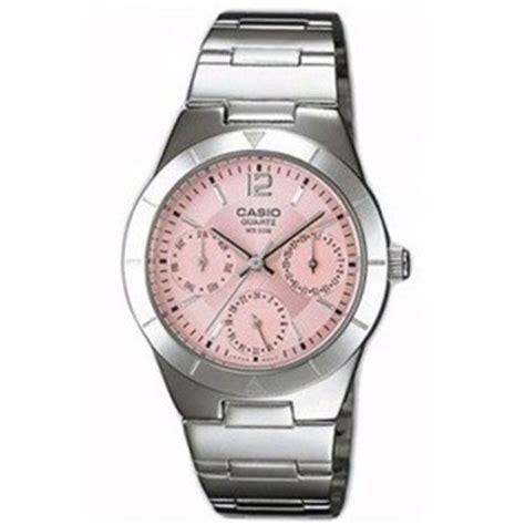 Jam Tangan Casio Wanita Sporty casio jam tangan wanita ltp 2069d 4a silver pink lazada indonesia