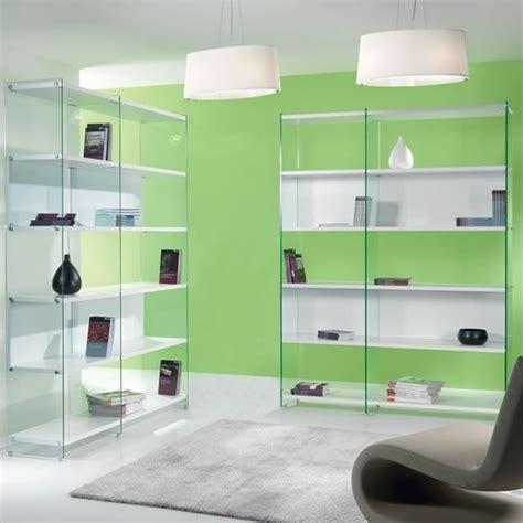 librerie in vetro byblos libreria in vetro trasparente con ripiani