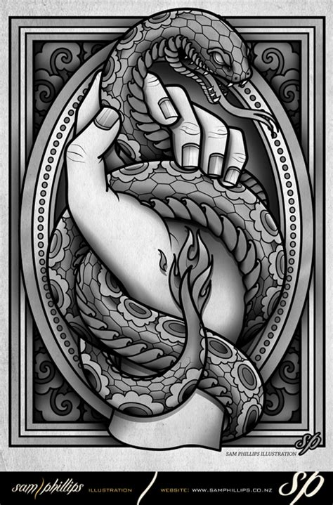 snake tattoo by sam phillips nz on deviantart
