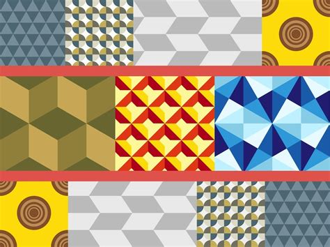 geometric pattern types gorgeous colorful vector of geometric patterns seven