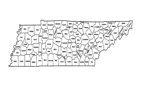 county map of tennessee tennessee county map printable swimnova