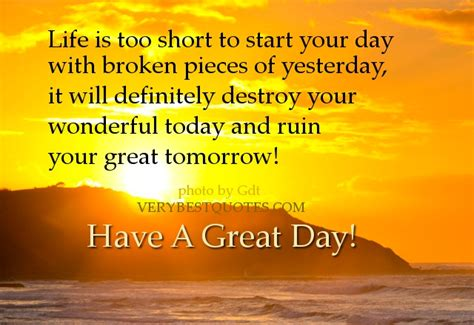 What A Way To Start A Day by Morning Quotes To Start The Day Quotesgram