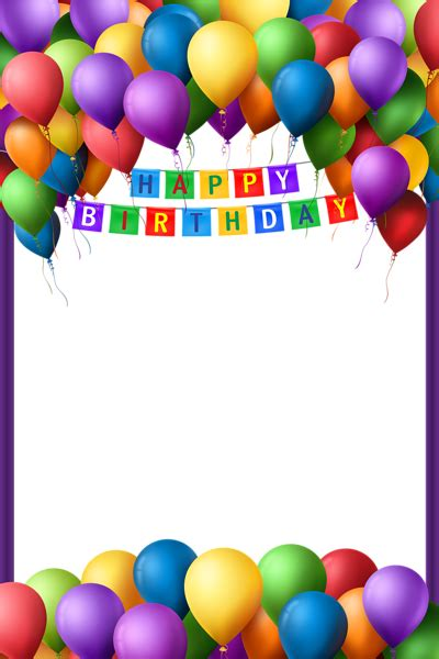 happy birthday transparent png frame gallery