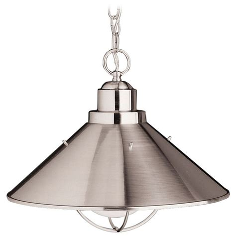 brushed nickel pendant lighting kitchen kichler nautical pendant light in brushed nickel finish