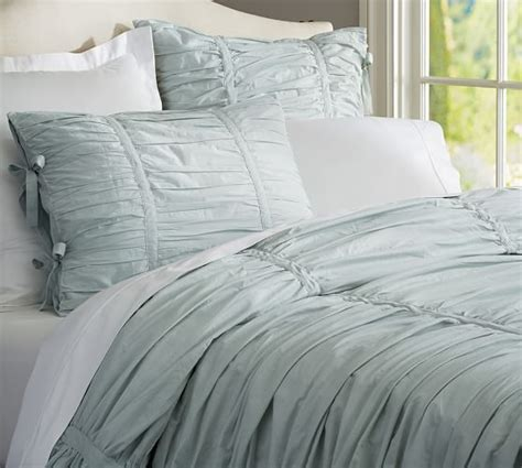 ruched bedding hadley ruched duvet cover sham pottery barn