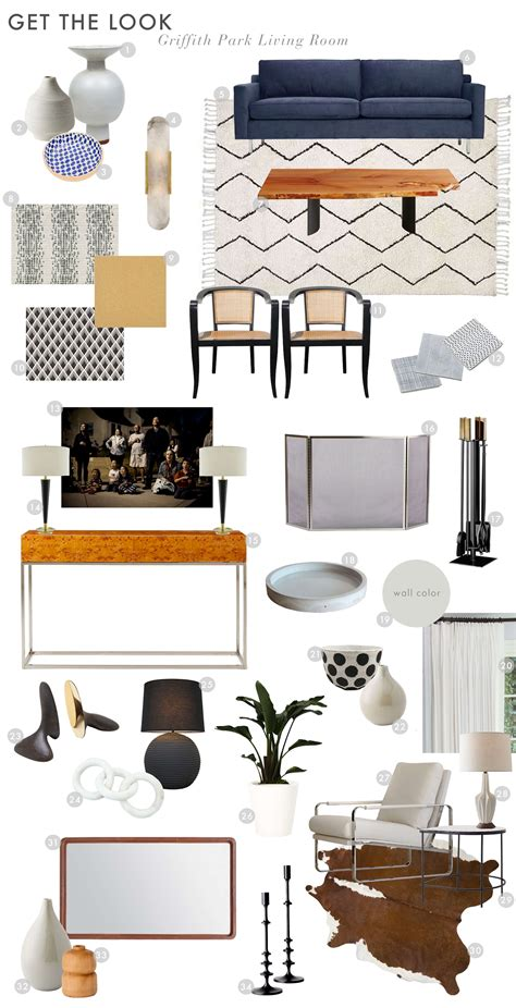 Small Bucket Armchairs Griffith Park Living Room Reveal Emily Henderson