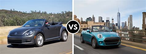 volkswagen mini cooper 2016 volkswagen beetle convertible vs 2016 mini cooper