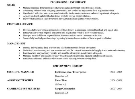 entry level objective statement exles sle resume objectives for entry level retail resume