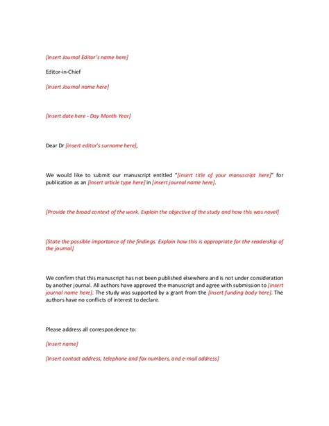 cover letter for submitting paper to journal journal cover letter new cover letter for submitting paper