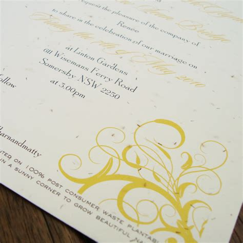 Wedding Invitations Seeded Paper by Seed Paper Invitations Archives Flamingo