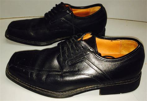 Mens Dress Shoe 11 5 by Allen Solly Mens Leather Dress Shoes Size 11 5 11 1 2 Black S Ebay