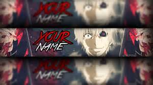 banner anime editable template tokyo ghoul photoshop