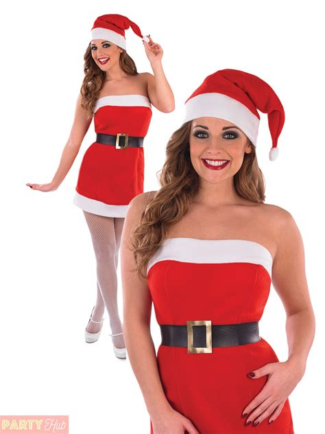 ladies sexy santa costume womens christmas cracker mrs