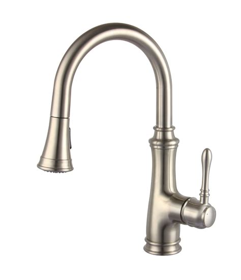 Kitchen Faucets With Sprayer Allora A 726 Bn Kitchen Faucet Single Handle Pull Sprayer Brushed Kralsu Sink And Faucet