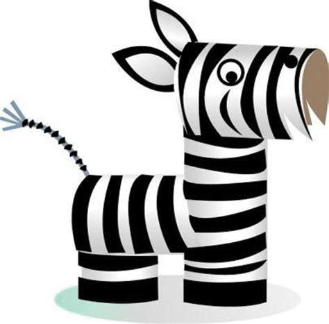 How To Make A Paper Zebra - diy animal craft ideas with toilet paper rolls home