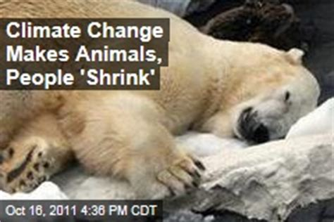 experts say that global warming makes animals shrink biodiversity news stories about biodiversity page 1