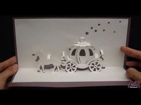 Disney Pop Up Card Template by Walt Disney Cinderella Carriage Card Tutorial Origamic
