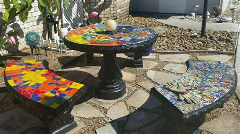 Design For Mosaic Patio Table Ideas Glass Or Ceramic Tile For Mosaic Patio Table How To Mosaic