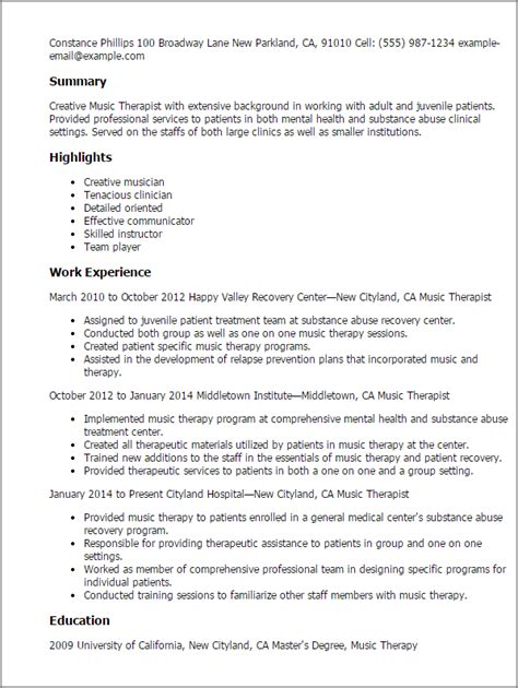 musician resume template professional therapist templates to showcase your