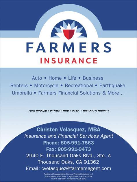 Insurance Mba by Farmers Insurance Christen Velasquez Mba Health