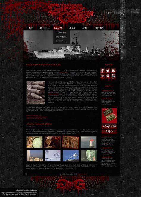 Modblackmoon Unique Dark Grunge Gothic Horror Web Design Metal Band Website Template