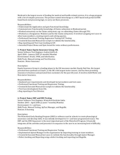 web testing resume resume ideas