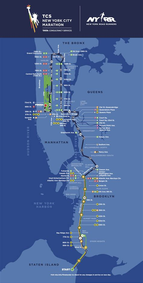 nyc marathon map new york city marathon route 2017 course map si