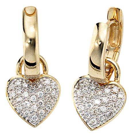 Ohrringe Diamant by Ohrringe Aus 585 Gold Mit 48 Diamanten