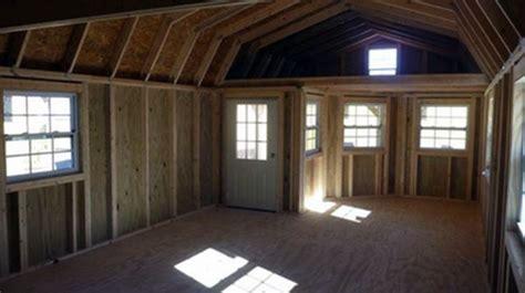 14x36 deluxe lofted barn cabin deluxe side lofted barn
