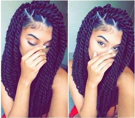 large twist braids proactive vs protective natural hair styling