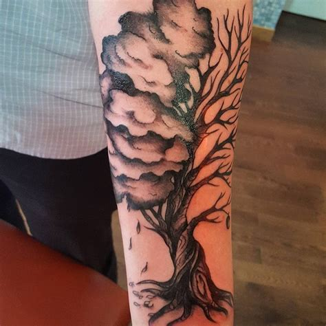 life and death tattoos designs and tree creativefan