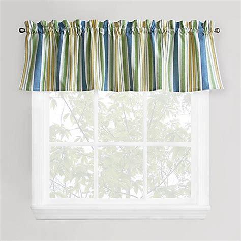 Green Bathroom Window Curtains Park B Smith Cape Cod Stripe Window Valance In Blue Green Bed Bath Beyond