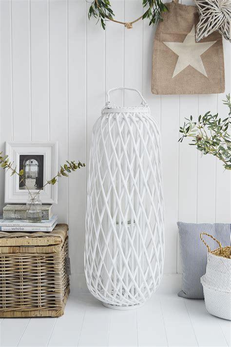 tall white willow lantern  england coastal country