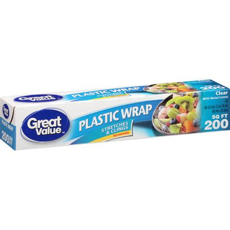 Plastic Wrap | great value clear plastic wrap 200 sq ft walmart com