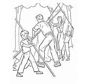 Bluebonkers Free Printable Family Camping Coloring Sheets