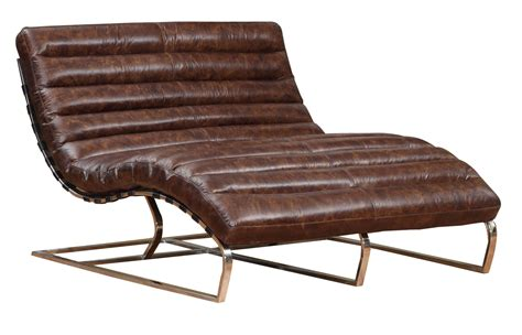 double chaise axel quot ready to ship quot leather double chaise leather