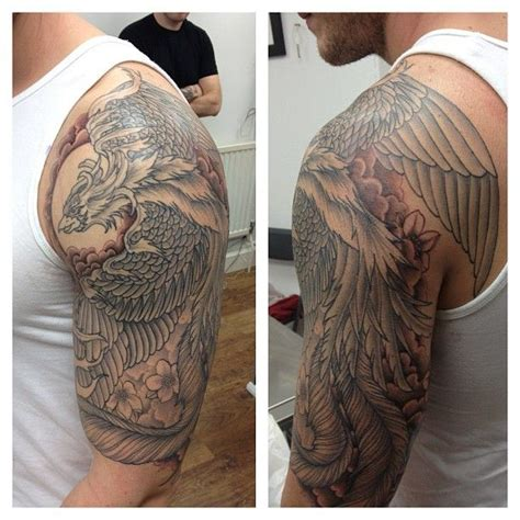phoenix tattoo sleeve half sleeve tattoos that i
