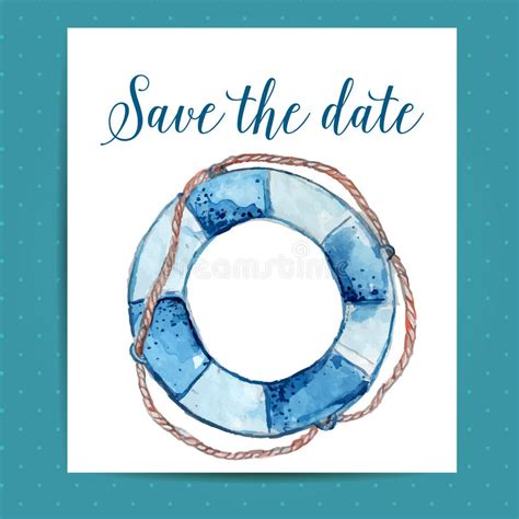 Save The Date Card Layout For Nautical Wedding Stock Vector Illustration Of Vector Date 52781926 Nautical Save The Date Template
