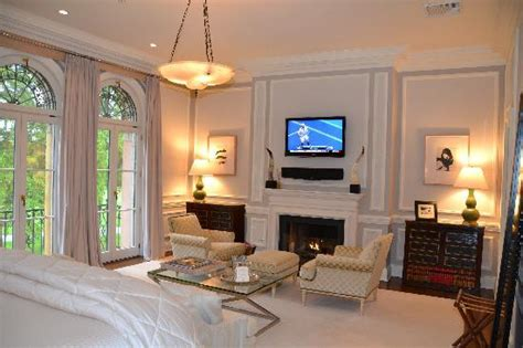 flat screen tv and fireplace in bedrooms picture of