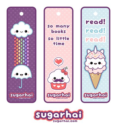 printable bookmarks cool cute printable bookmarks kawaii pinterest printable