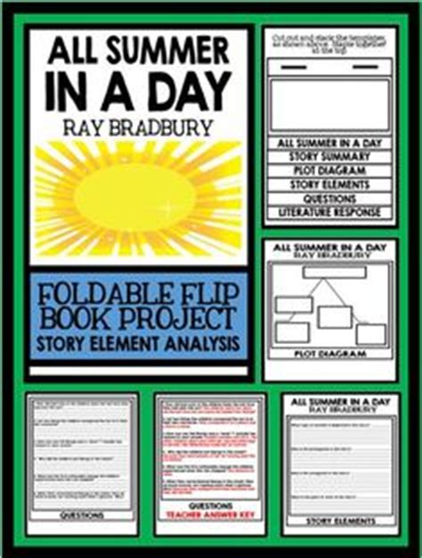 themes of the story all summer in a day short story teaching resources on pinterest short