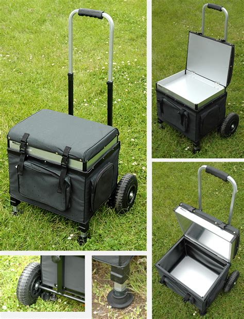 fishing seat box with wheels bison trolley seat box barrows trolleys fishing mad