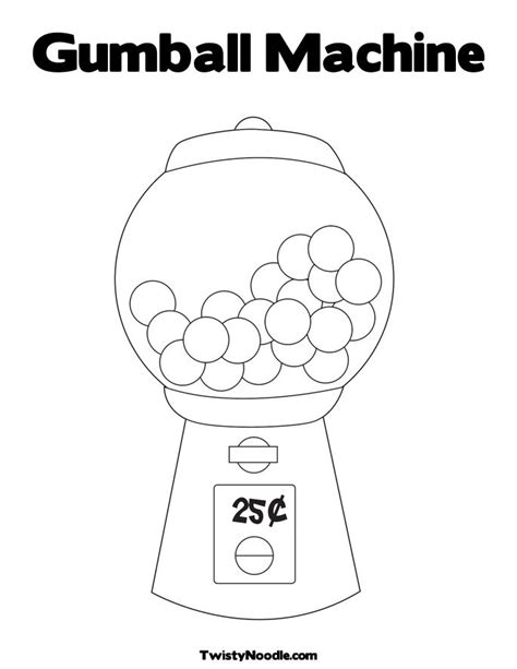 free coloring pages of empty gum ball machine