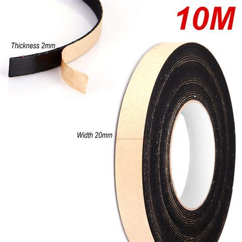 Seal 10m 20mm x 2mm sponge rubber single sided foam closed cell seal 10m black ebay