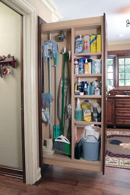 Narrow Broom Cupboard - everyone needs a broom closet here the brooms mops and