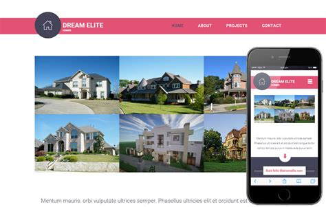 Dream Elite A Real Estate Category Flat Bootstrap Responsive Web Template By W3layouts Free Real Estate Responsive Website Templates
