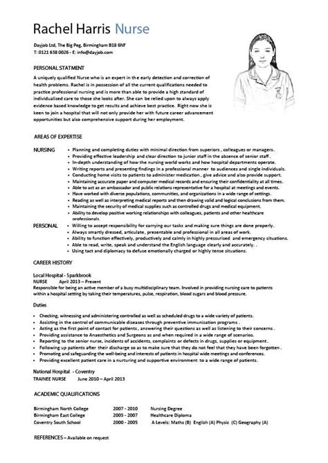Great Resume Objective Examples by Nursing Cv Template Nurse Resume Examples Sample