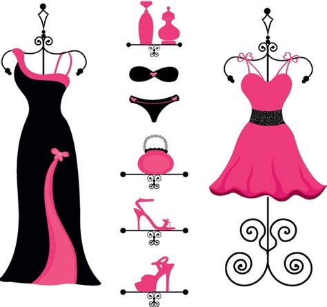 clothes vector design free download pink and black fashion free vector in adobe illustrator ai
